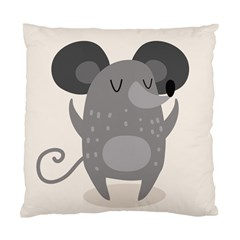 Tooth Bigstock Cute Cartoon Mouse Grey Animals Pest Standard Cushion Case (two Sides) by Mariart