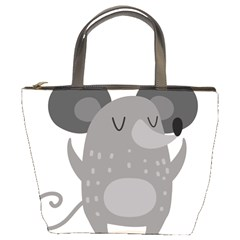 Tooth Bigstock Cute Cartoon Mouse Grey Animals Pest Bucket Bags by Mariart
