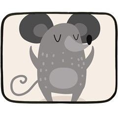 Tooth Bigstock Cute Cartoon Mouse Grey Animals Pest Double Sided Fleece Blanket (mini)