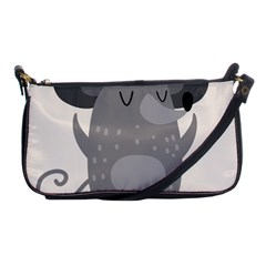 Tooth Bigstock Cute Cartoon Mouse Grey Animals Pest Shoulder Clutch Bags
