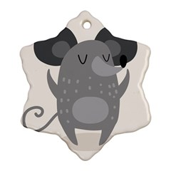 Tooth Bigstock Cute Cartoon Mouse Grey Animals Pest Ornament (snowflake) by Mariart