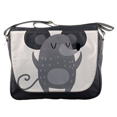 Tooth Bigstock Cute Cartoon Mouse Grey Animals Pest Messenger Bags by Mariart