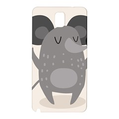Tooth Bigstock Cute Cartoon Mouse Grey Animals Pest Samsung Galaxy Note 3 N9005 Hardshell Back Case by Mariart