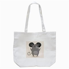 Tooth Bigstock Cute Cartoon Mouse Grey Animals Pest Tote Bag (white) by Mariart