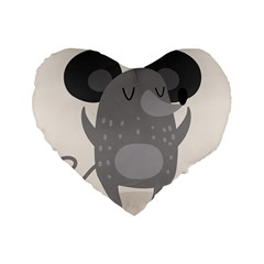 Tooth Bigstock Cute Cartoon Mouse Grey Animals Pest Standard 16  Premium Flano Heart Shape Cushions by Mariart