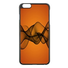 Transparent Waves Wave Orange Apple Iphone 6 Plus/6s Plus Black Enamel Case by Mariart