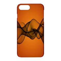 Transparent Waves Wave Orange Apple Iphone 7 Plus Hardshell Case by Mariart