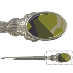 Unifom Camuflage Green Frey Purple Falg Letter Openers by Mariart