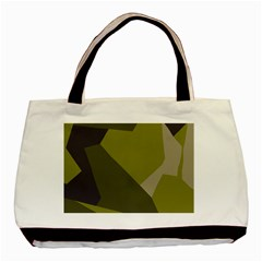 Unifom Camuflage Green Frey Purple Falg Basic Tote Bag (two Sides) by Mariart