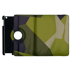 Unifom Camuflage Green Frey Purple Falg Apple Ipad 2 Flip 360 Case by Mariart