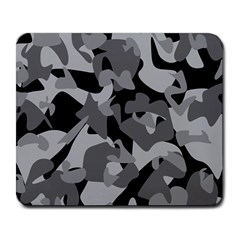 Urban Initial Camouflage Grey Black Large Mousepads by Mariart