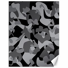 Urban Initial Camouflage Grey Black Canvas 18  X 24   by Mariart