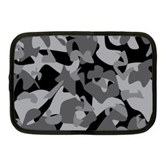 Urban Initial Camouflage Grey Black Netbook Case (medium)  by Mariart