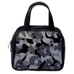 Urban Initial Camouflage Grey Black Classic Handbags (one Side) by Mariart