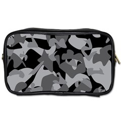Urban Initial Camouflage Grey Black Toiletries Bags by Mariart