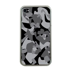 Urban Initial Camouflage Grey Black Apple Iphone 4 Case (clear) by Mariart