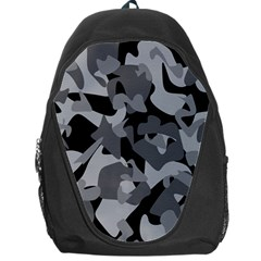 Urban Initial Camouflage Grey Black Backpack Bag by Mariart