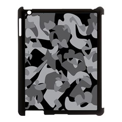 Urban Initial Camouflage Grey Black Apple Ipad 3/4 Case (black) by Mariart