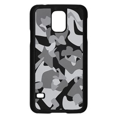 Urban Initial Camouflage Grey Black Samsung Galaxy S5 Case (black) by Mariart