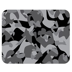 Urban Initial Camouflage Grey Black Double Sided Flano Blanket (medium)  by Mariart