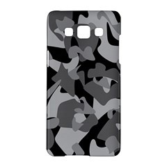 Urban Initial Camouflage Grey Black Samsung Galaxy A5 Hardshell Case  by Mariart
