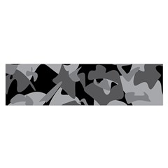 Urban Initial Camouflage Grey Black Satin Scarf (oblong) by Mariart