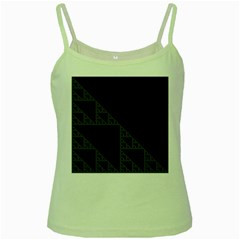 Triangle Black White Chevron Green Spaghetti Tank by Mariart