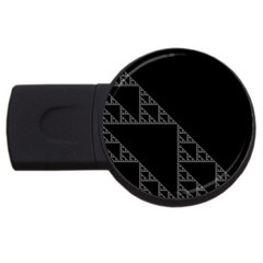 Triangle Black White Chevron Usb Flash Drive Round (2 Gb) by Mariart