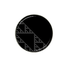 Triangle Black White Chevron Hat Clip Ball Marker by Mariart