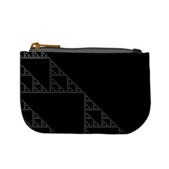 Triangle Black White Chevron Mini Coin Purses by Mariart