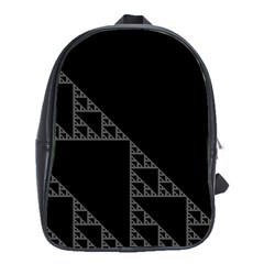 Triangle Black White Chevron School Bags(large)  by Mariart