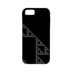 Triangle Black White Chevron Apple Iphone 5 Classic Hardshell Case (pc+silicone) by Mariart