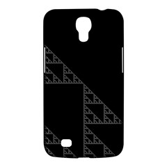 Triangle Black White Chevron Samsung Galaxy Mega 6 3  I9200 Hardshell Case by Mariart