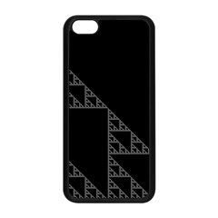 Triangle Black White Chevron Apple Iphone 5c Seamless Case (black) by Mariart