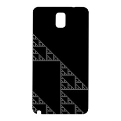 Triangle Black White Chevron Samsung Galaxy Note 3 N9005 Hardshell Back Case by Mariart