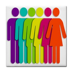 Trans Gender Purple Green Blue Yellow Red Orange Color Rainbow Sign Tile Coasters by Mariart