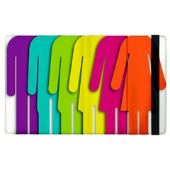Trans Gender Purple Green Blue Yellow Red Orange Color Rainbow Sign Apple Ipad 2 Flip Case by Mariart