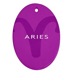 Zodiac Aries Ornament (oval) by Mariart