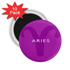 Zodiac Aries 2 25  Magnets (10 Pack)  by Mariart