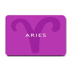 Zodiac Aries Small Doormat  by Mariart