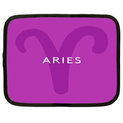 Zodiac Aries Netbook Case (large) by Mariart