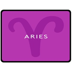 Zodiac Aries Fleece Blanket (large)  by Mariart