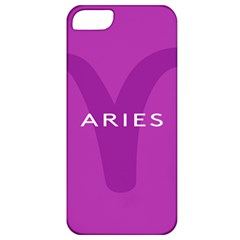 Zodiac Aries Apple Iphone 5 Classic Hardshell Case by Mariart