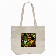 Urban Camo Green Brown Grey Pizza Strom Tote Bag (cream) by Mariart