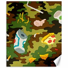 Urban Camo Green Brown Grey Pizza Strom Canvas 8  X 10  by Mariart