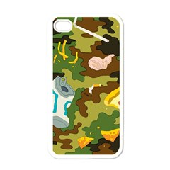 Urban Camo Green Brown Grey Pizza Strom Apple Iphone 4 Case (white) by Mariart