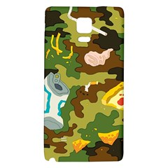 Urban Camo Green Brown Grey Pizza Strom Galaxy Note 4 Back Case by Mariart