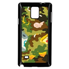 Urban Camo Green Brown Grey Pizza Strom Samsung Galaxy Note 4 Case (black) by Mariart
