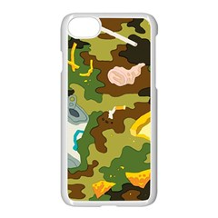 Urban Camo Green Brown Grey Pizza Strom Apple Iphone 7 Seamless Case (white) by Mariart