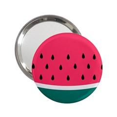 Watermelon Red Green White Black Fruit 2 25  Handbag Mirrors by Mariart